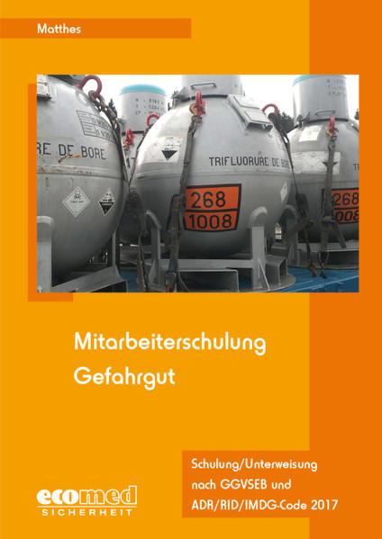 Mitarbeiterschulung Gefahrgut - Expertenpaket / Mitarbeiterschulung Gefahrgut - Coverbild