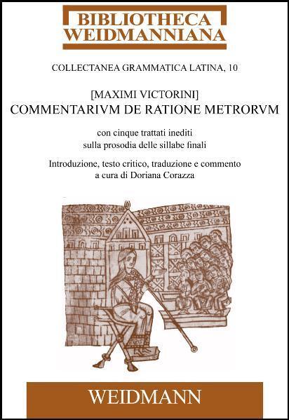 [Maximi Victorini] Commentarium de ratione metrorum - Coverbild