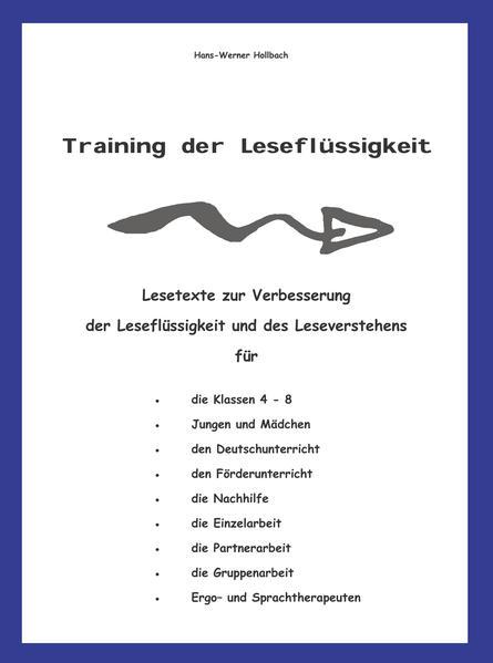 Training der Leseflüssigkeit - Coverbild