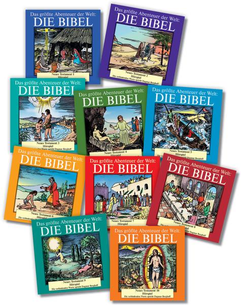 Die Bibel - Neues Testament komplett, 10 CDs - Coverbild