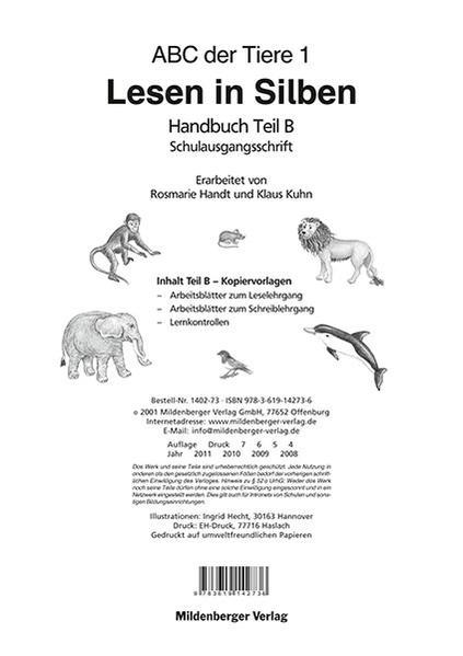 ABC der Tiere / ABC der Tiere 1 – Handbuch Teil B (SAS) - Coverbild