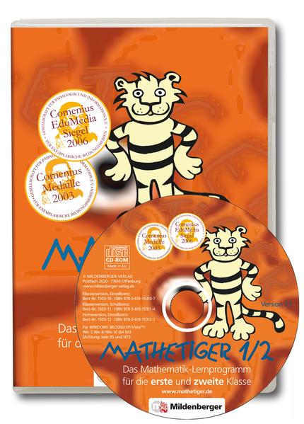 Mathetiger 1/2. Lernprogramm für 1. und 2. Klasse / Mathetiger 1/2, Version 2.1 - Coverbild