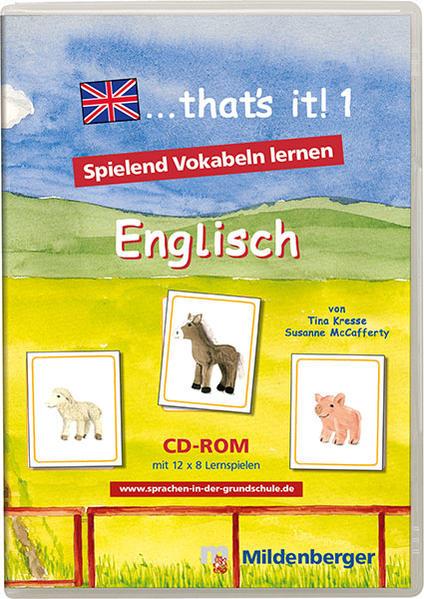 """... that's it! 1 - CD-ROM. Lernspiele für den Englischunterricht / """"... that`s it! 1"""" – Lernsoftware, Schullizenz - Coverbild"""