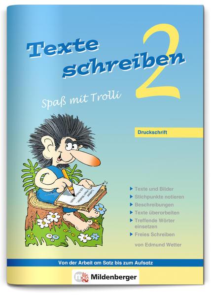 Texte schreiben – Spaß mit Trolli 2, Druckschrift - Coverbild