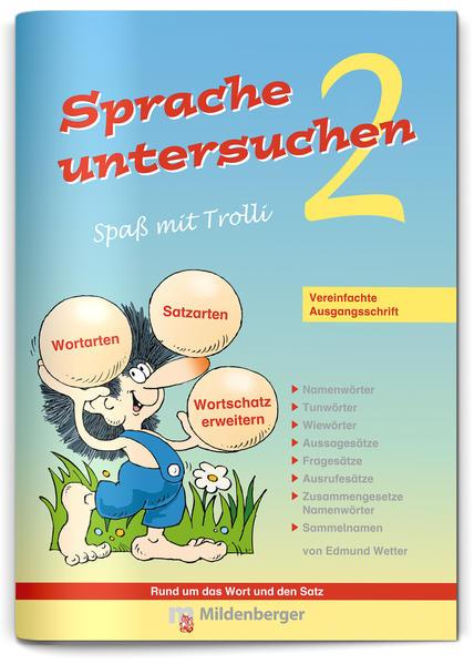 Sprache untersuchen – Spaß mit Trolli 2, Vereinfachte Ausgangsschrift - Coverbild