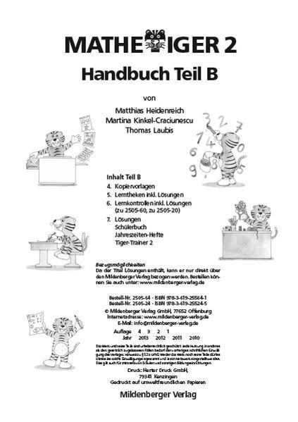 Mathetiger 2, Jahreszeiten-Hefte – Lehrerhandbuch Teil B - Coverbild