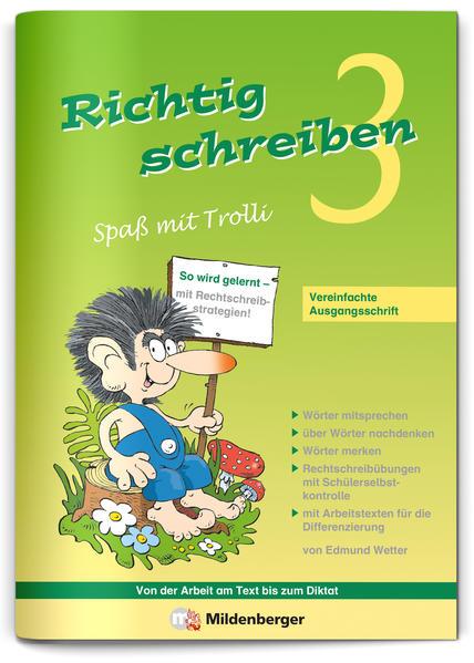 Richtig schreiben – Spaß mit Trolli, 3. Schuljahr - Coverbild