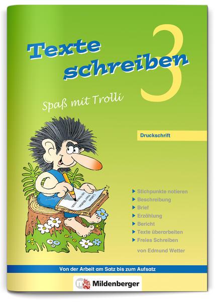 Texte schreiben – Spaß mit Trolli 3, Druckschrift - Coverbild