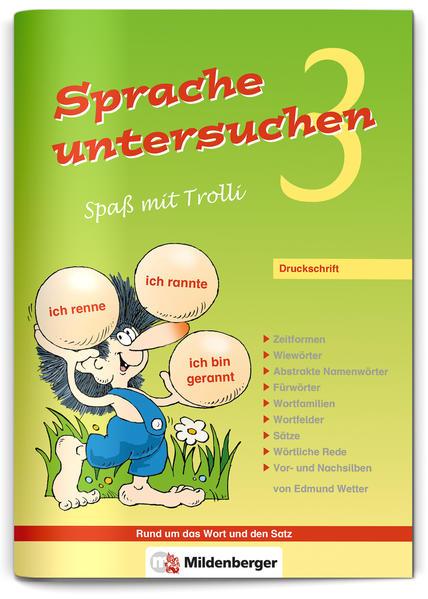Sprache untersuchen – Spaß mit Trolli 3, Druckschrift - Coverbild
