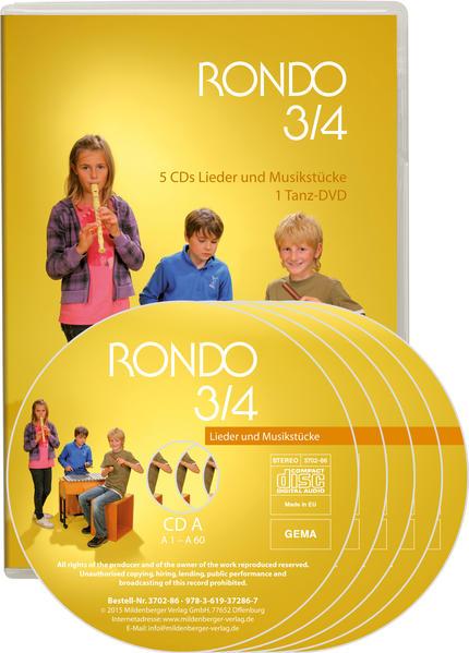 Rondo. Musiklehrgang für die Grundschule - Neubearbeitung / RONDO 3/4 - Lieder und Musikstücke - Neuausgabe - Coverbild