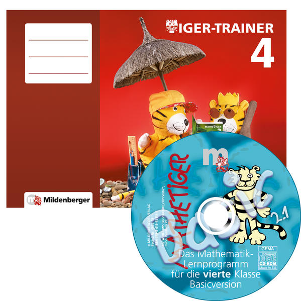 Tiger-Trainer 4 – Arbeitsheft mit CD-ROM Mathetiger Basic 4, Version 2.1 - Coverbild