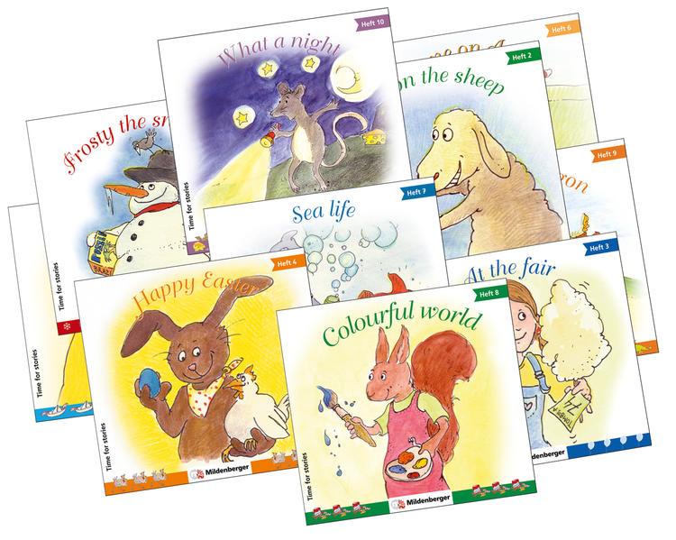 Time for stories. Pfiffige Bild-Text-Hefte für Klasse 3 bis 6 / Time for stories, Heft 1 - 10, Kennenlernpaket - Coverbild