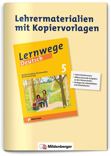 """Lehrerservice zu """"Rechtschreibung – Grammatik – Zeichensetzung 5""""  - Coverbild"""