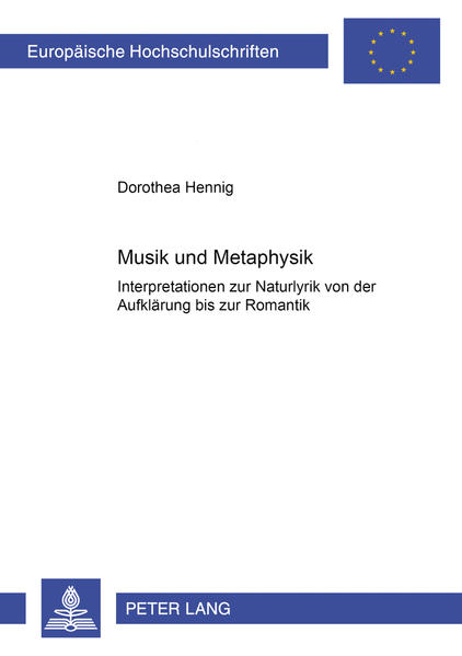 Musik und Metaphysik - Coverbild