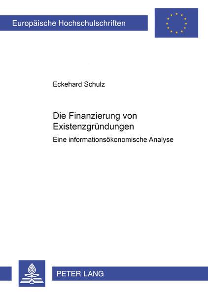 Die Finanzierung von Existenzgründungen - Coverbild