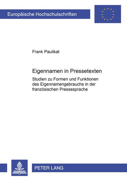 Eigennamen in Pressetexten - Coverbild