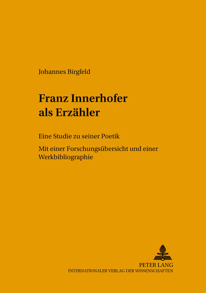Franz Innerhofer als Erzähler - Coverbild