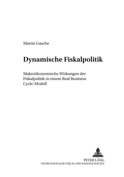Dynamische Fiskalpolitik - Coverbild