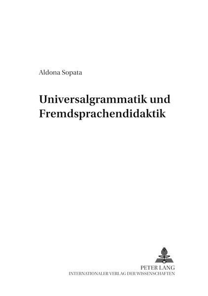 Universalgrammatik und Fremdsprachendidaktik - Coverbild