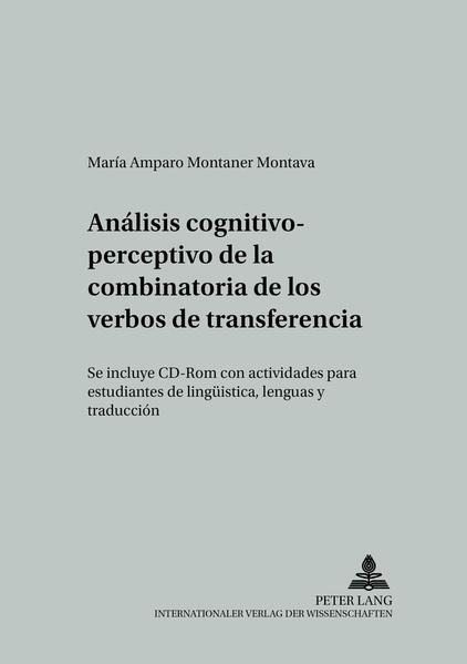 Análisis cognitivo-perceptivo de la combinatoria de los verbos de transferencia - Coverbild