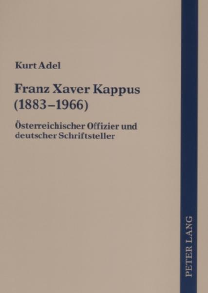 Franz Xaver Kappus (1883-1966) - Coverbild