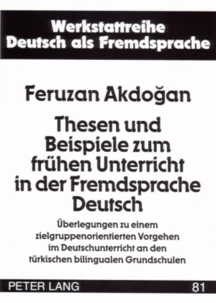Thesen und Beispiele zum frühen Unterricht in der Fremdsprache Deutsch - Coverbild