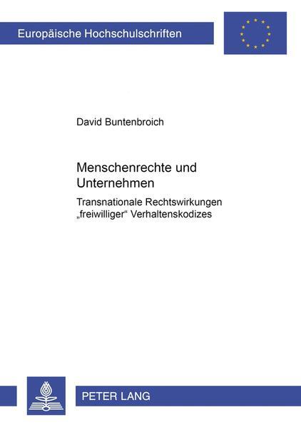 Menschenrechte und Unternehmen - Coverbild