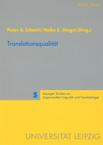 Translationsqualität - Coverbild