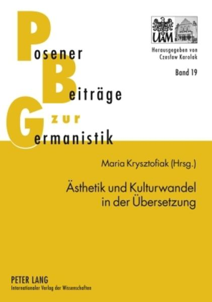 Ästhetik und Kulturwandel in der Übersetzung - Coverbild