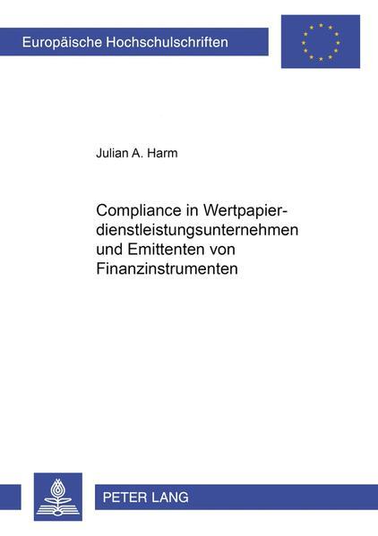 Compliance in Wertpapierdienstleistungsunternehmen und Emittenten von Finanzinstrumenten - Coverbild