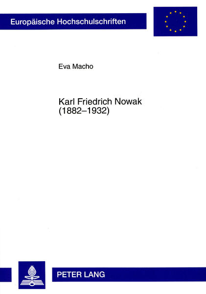 Karl Friedrich Nowak (1882-1932) - Coverbild