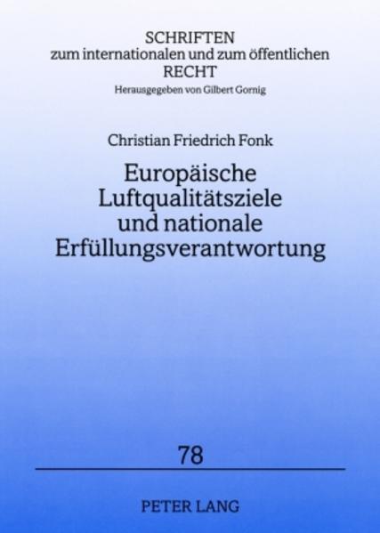 Europäische Luftqualitätsziele und nationale Erfüllungsverantwortung - Coverbild