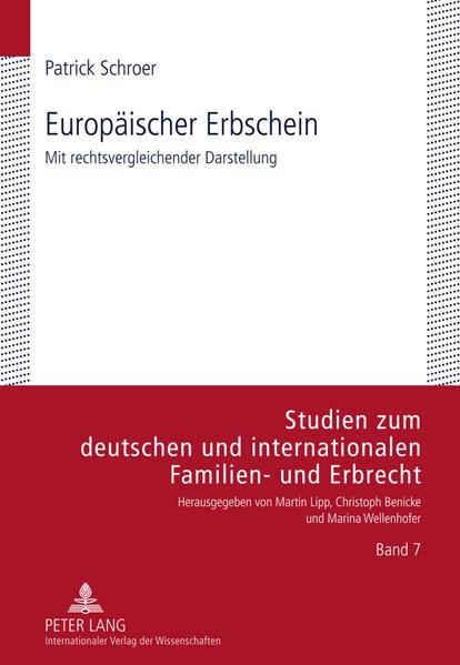 Europäischer Erbschein - Coverbild