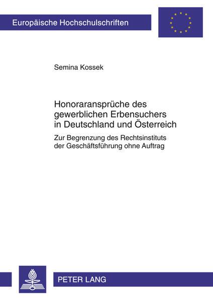 Honoraransprüche des gewerblichen Erbensuchers in Deutschland und Österreich - Coverbild