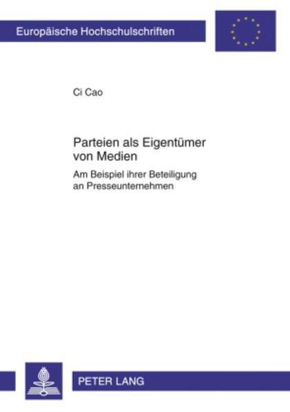 Parteien als Eigentümer von Medien - Coverbild