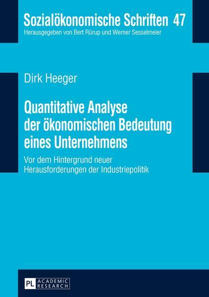 Quantitative Analyse der ökonomischen Bedeutung eines Unternehmens - Coverbild