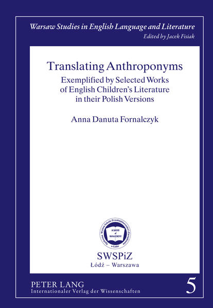 Translating Anthroponyms - Coverbild