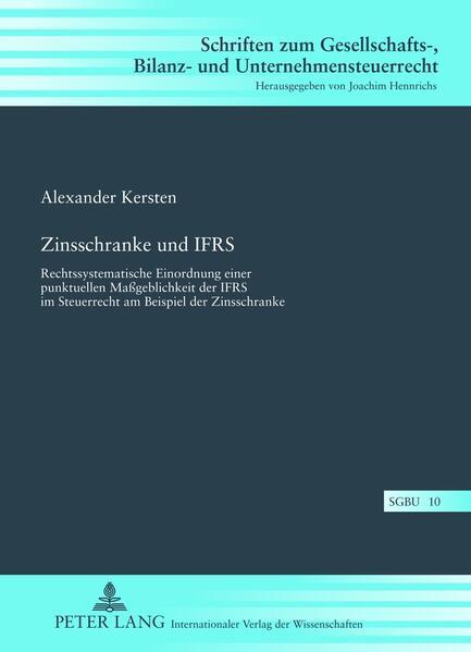Zinsschranke und IFRS - Coverbild