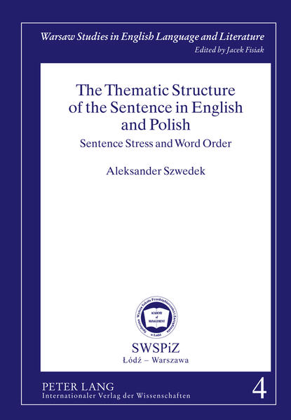 The Thematic Structure of the Sentence in English and Polish - Coverbild