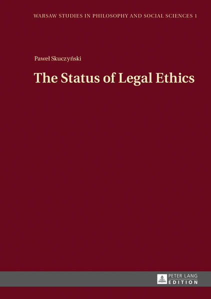 The Status of Legal Ethics - Coverbild