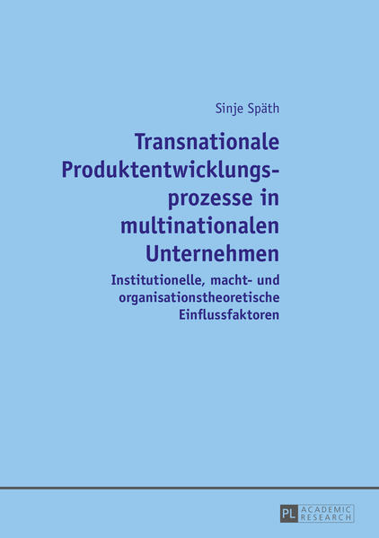 Transnationale Produktentwicklungsprozesse in multinationalen Unternehmen - Coverbild