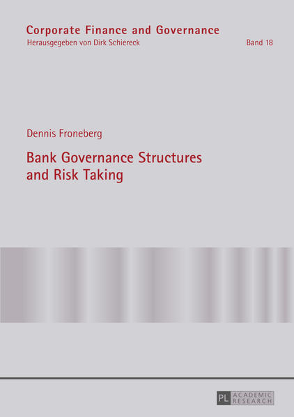 Bank Governance Structures and Risk Taking - Coverbild