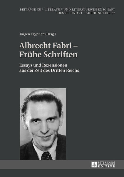 Albrecht Fabri – Frühe Schriften - Coverbild