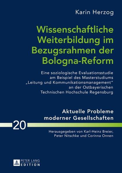 Wissenschaftliche Weiterbildung im Bezugsrahmen der Bologna-Reform - Coverbild