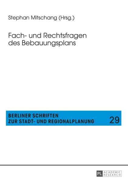 Fach- und Rechtsfragen des Bebauungsplans - Coverbild