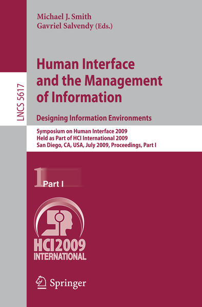 Human Interface and the Management of Information. Designing Information Environments - Coverbild
