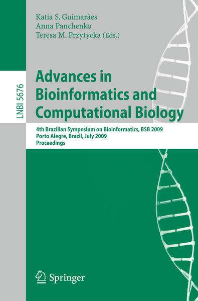 Advances in Bioinformatics and Computational Biology - Coverbild