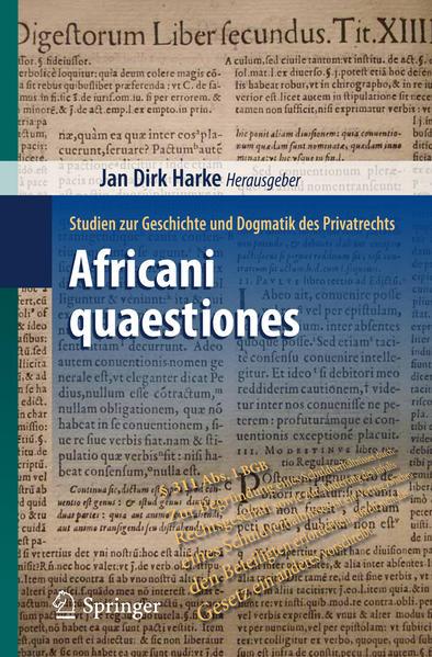 Africani quaestiones - Coverbild