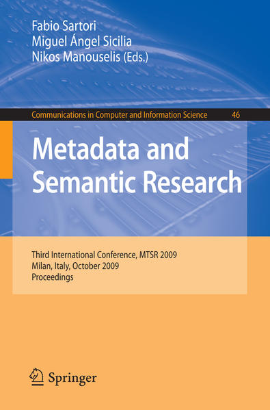 Metadata and Semantic Research - Coverbild