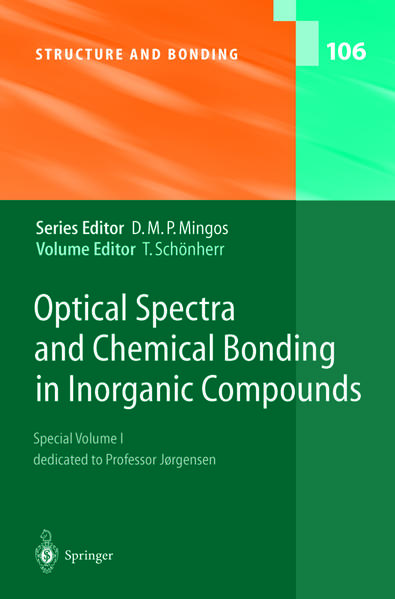 Optical Spectra and Chemical Bonding in Inorganic Compounds - Coverbild